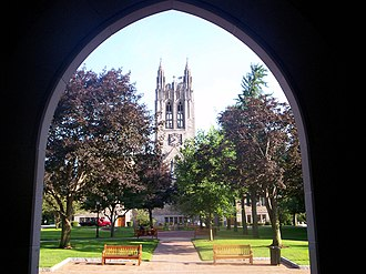 Boston College Main Campus Historic District - Gasson from Fulton