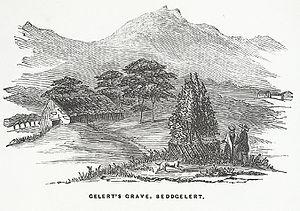 Gelert - Gelert's Grave, Beddgelert, 1850