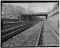 General view to west. - Summit Avenue Bridge, Spanning New Jersey Transit tracks at Summit Avenue, Summit, Union County, NJ HAER NJ,20-SUMT,2-6.tif