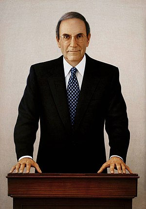 Senate portrait of Majority Leader George Mitchell