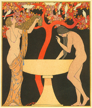 The Songs of Bilitis - Illustration by Georges Barbier for The Songs of Bilitis