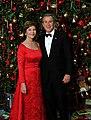 George W. Bush and Laura Bush pose for a Christmas portrait.jpg