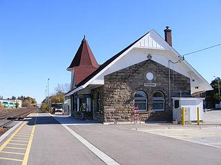 Georgetown GO Station railway station in Halton Hills, Canada