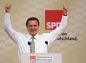 "Gerhard Schröder - ""SPD – Trust in Germany"": Schröder in Esslingen."