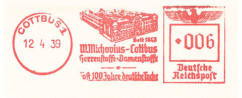 Germany stamp type F1 Cottbus.jpg