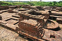 The Buddhist monastery of Ghoshitarama in Kausambi was probably destroyed by the Alchon Huns under Toramana.