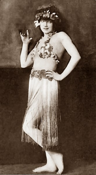 Gilda Gray - Gilda Gray as the Hula-Hula Girl Theatre Magazine, April, 1922