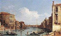 Giovanni Antonio Canal, il Canaletto - The Grand Canal from Campo San Vio towards the Bacino - WGA03869.jpg