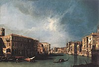 Giovanni Antonio Canal, il Canaletto - The Grand Canal from Rialto toward the North - WGA03853.jpg
