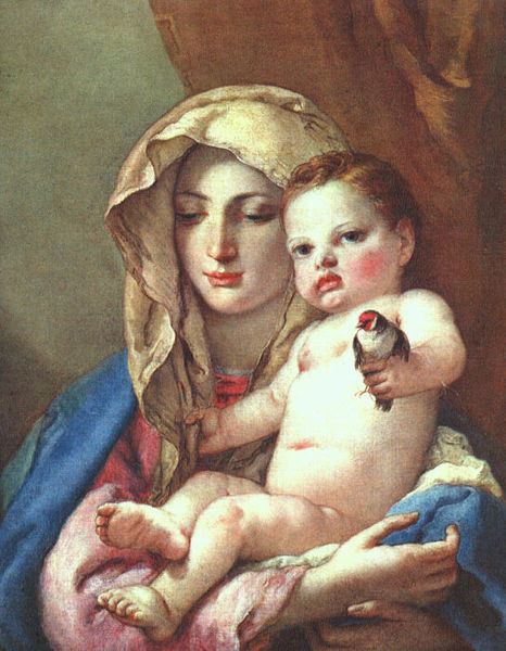 [peinture] Vos oeuvres préférées - Page 2 466px-Giovanni_Battista_Tiepolo_-_Madonna_of_the_Goldfinch_-_WGA22360