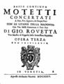 Giovanni Rovetta - Titelseite einer Motettensammlung, 1635.png
