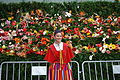 Girl in traditional dress during the Flower Festival, Funchal, Madeira, Portugal.jpg
