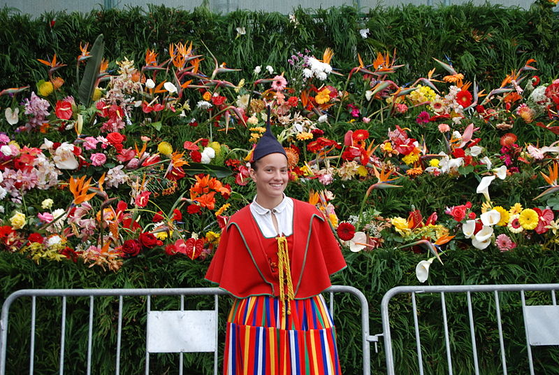File:Girl in traditional dress during the Flower Festival, Funchal, Madeira, Portugal.jpg