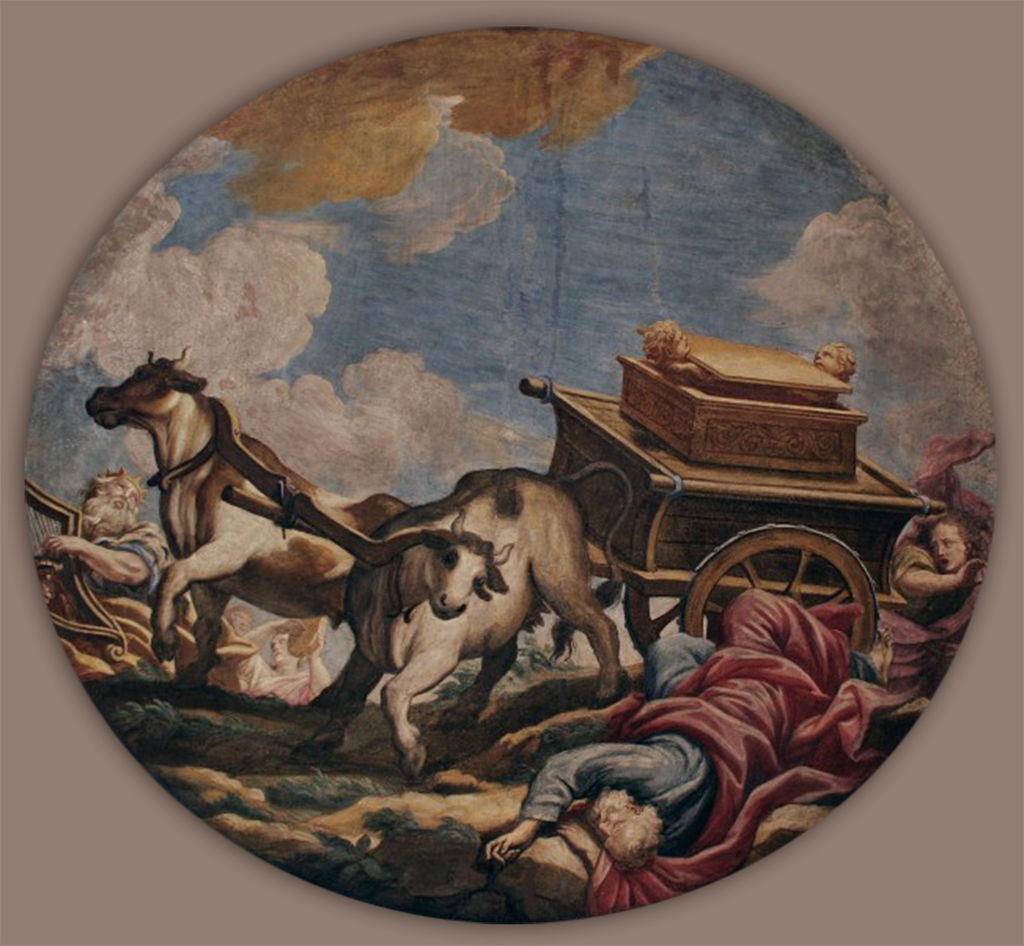 Uzzah - painting by Giulio Quaglio the Younger
