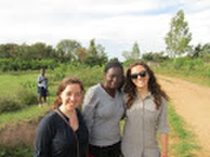 Good Ventures - Staff from GiveWell (left), GiveDirectly (middle), and Good Ventures (right), on a field trip to one of the villages that have recipients of GiveDirectly's cash transfer program in Kenya.
