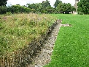 Reredorter - Remains of the reredorter at Glastonbury Abbey