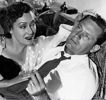 Wilder considered many actors for the lead roles, but chose Swanson and Holden. Gloria Swanson and William Holden.jpg