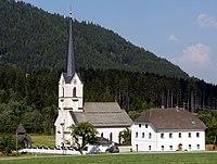 Gnesau Weissenbach evangelische Kirche und Pfarrhaus 20072007 33.jpg