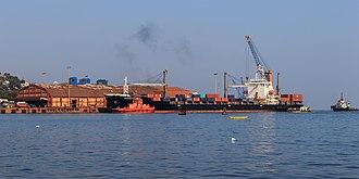 Mormugao Port Trust - View of Mormugao Harbour from the Zuari river