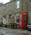 Gold Post Box at Hebden Post Office - geograph.org.uk - 3134187.jpg
