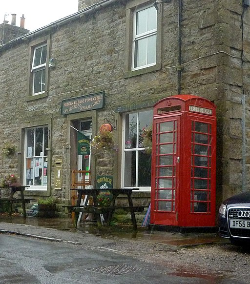 Gold Post Box at Hebden Post Office - geograph.org.uk - 3134187
