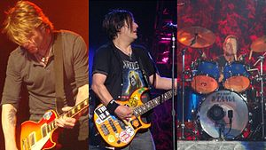 John Rzeznik (left), Robby Takac (center) and ...