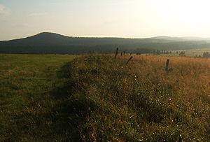 Božídarský Špičák - The Gottesgaber Spitzberg at dusk