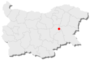 Gradets, Sliven Province - Location of Gradets, Sliven Province in Bulgaria
