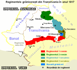 Location of Transylvanian Military Frontier
