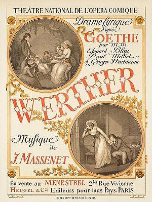 Werther - Grasset poster for 1893 French premiere of Werther