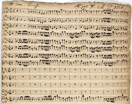 Christoph Graupner's cantata for the birthday of Landgraf Ernst Ludwig, December 1726. Graupner-1726.JPG