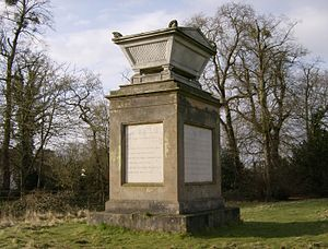Thomas Gray - Monument, in Stoke Poges, inscribed with Gray's Elegy