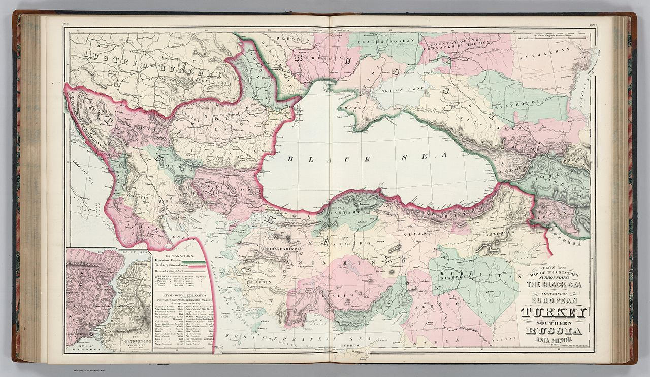Filegrays new map of the countries surrounding the black sea filegrays new map of the countries surrounding the black sea comprising european turkey southern russia asia minor etc inset the bosphorus and gumiabroncs Images