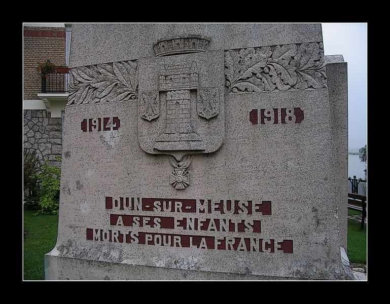 Great War Monument in Dun-sur-Meuse in the Argonne