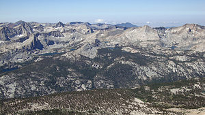 Sequoia National Park - The Great Western Divide as seen from the summit of Mount Kaweah