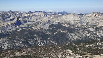 Sequoia National Park - Great Western Divide from the summit of Mount Kaweah