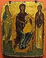 Grecia, madonna in trono con due santi, 1400 ca..JPG