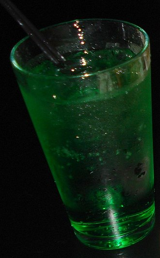 Green River (soft drink) - A glass of Green River