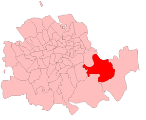 Greenwich (UK Parliament constituency) - Greenwich in the Metropolitan Board of Works area, 1885–1918