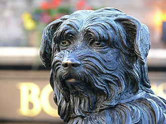 Skye Terrier - A statue of Greyfriars Bobby, a famously loyal Skye Terrier