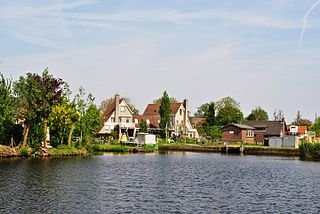 Groot-Ammers Town in South Holland, Netherlands