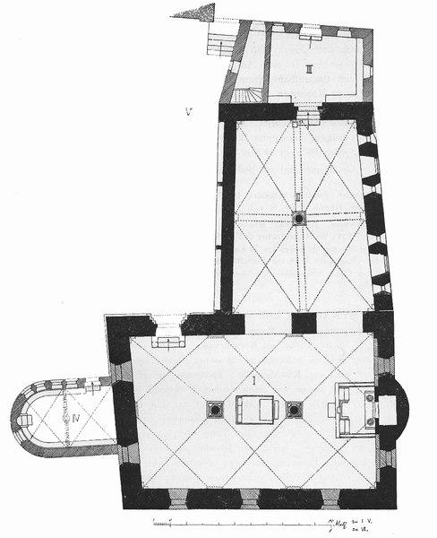 Grundriss Synagoge Worms (UNESCO-Welterbe SchUM-Stätten)