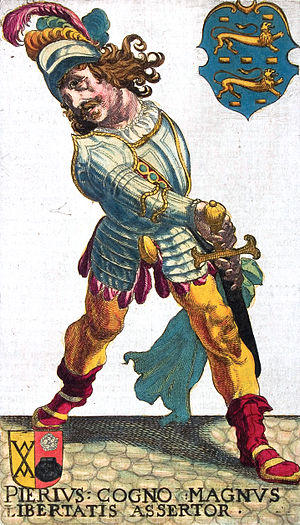 Folklore of the Low Countries - rPainting of Pier Gerlofs Donia, the 7.5 feet tall freedom fighter