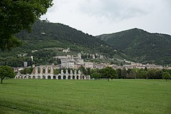 Panorama of Gubbio from Viale Parruccini