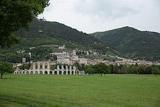 Gubbio - Panorama of Gubbio from Viale Parruccini