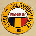 Guide L'Automobiliste 1965 Recommande, Enamel advert sign at the den hartog ford museum pic-004.JPG