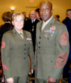 Gunnery Sgt Camilla Lawson and Sgt of the USMC Carlton Kent, Washington DC.png