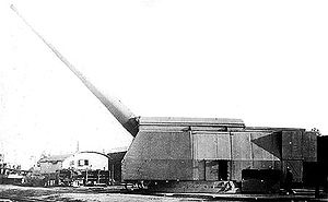 Sovetsky Soyuz-class battleship -  406 mm B-37 single barrel naval gun in MP-10 test mount, 1940