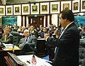Gus Bilirakis offers farewell remarks to colleagues during the closing days of the 2006 Legislature.jpg