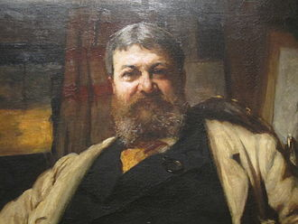 Henry Hobson Richardson - Close-up of Henry Hobson Richardson, portrait by Sir Hubert von Herkomer from the National Portrait Gallery in Washington, D.C.